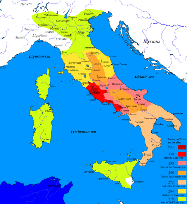 Image from http://en.wikipedia.org/wiki/File:Roman_conquest_of_Italy.PNG
